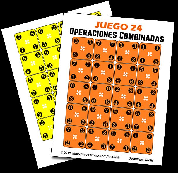 Juego 24 De Operaciones Combinadas Juego Para Practicar Las 4 Operaciones Aritmét Juegos De Matemáticas Jerarquia De Operaciones Juegos Matematicos Secundaria