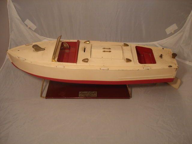 Original 1930\'s Lionel Craft prewar #43 Wind up tin pleasure boat ...