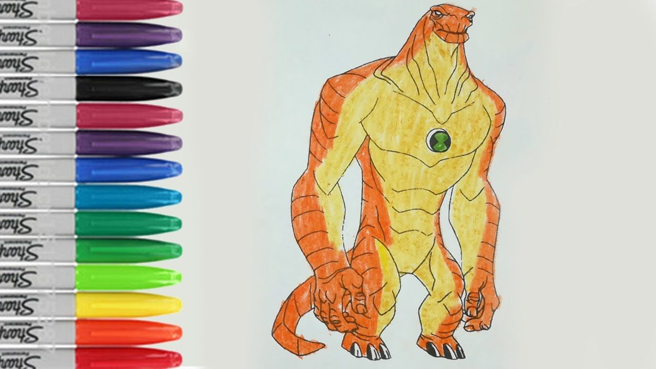 humungousaur coloring book page ben 10 alien sailany coloring kids