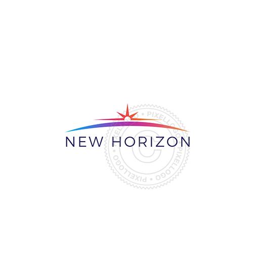 Sunrise Horizon Logo Sunrise Logo Travel Logo Sunrise
