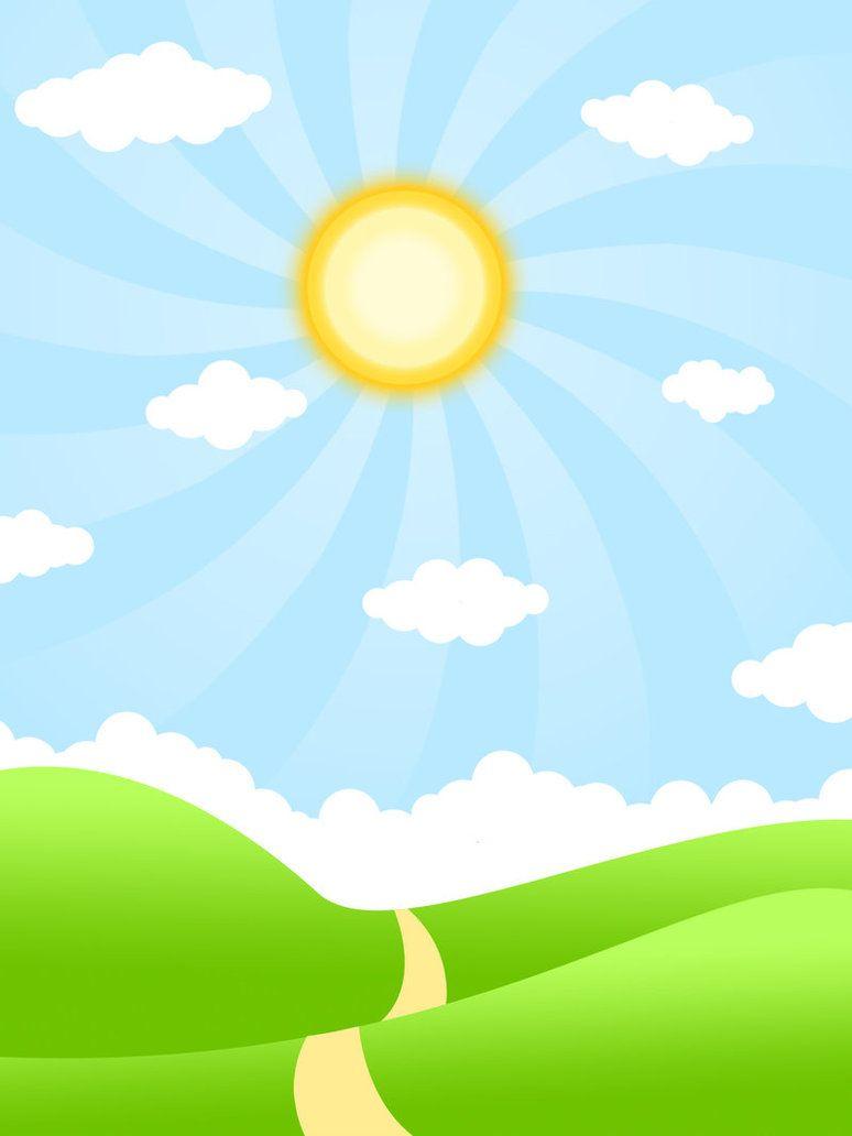 Sunny Day Background Kids Background Cartoon Background Powerpoint Background Design