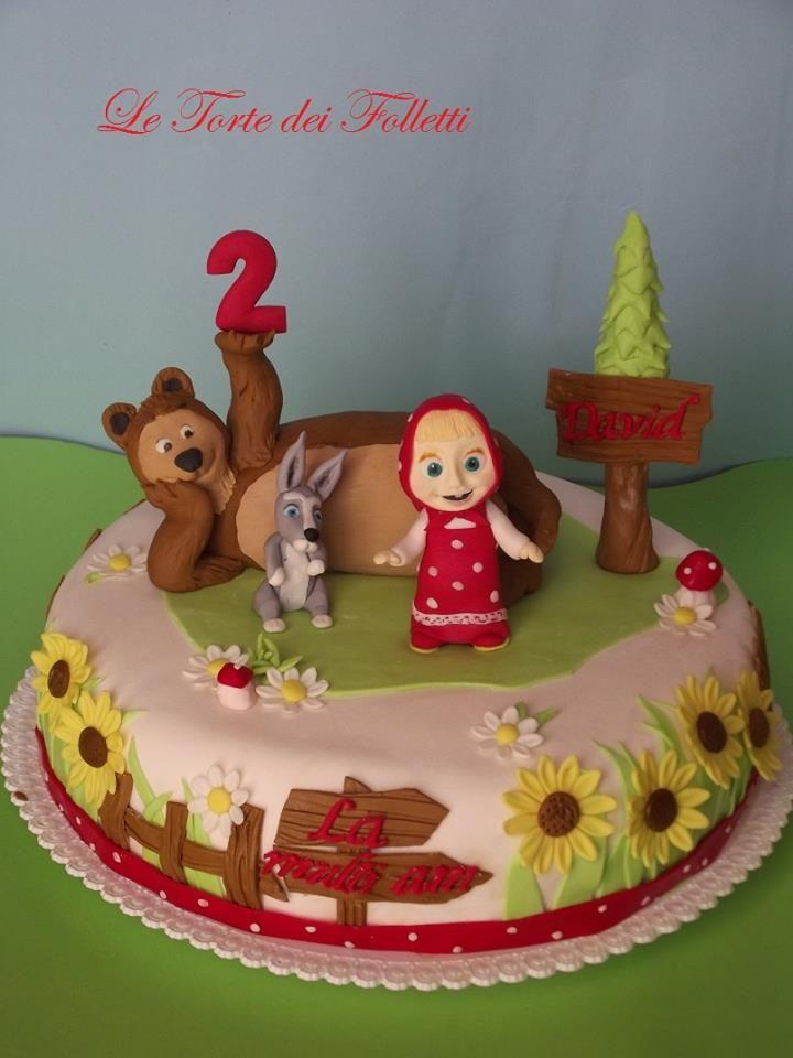 Masha And The Bear Caketorta Masha E Orso My Work Bear Cakes