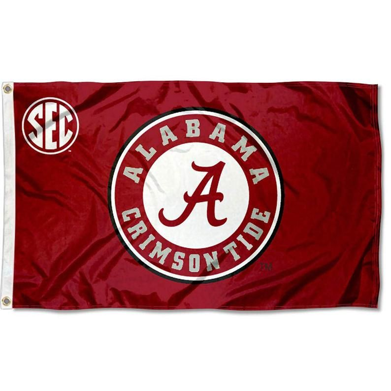 University Of Alabama Crimson Tide Flag Banner Etsy Alabama Crimson Tide Crimson Tide Alabama Crimson