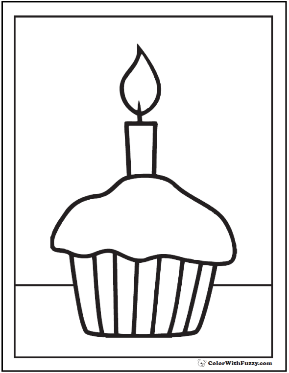 40 Cupcake Coloring Pages Customize Pdf Printables Printable Coloring Pages Coloring Pages Cupcake Coloring Pages