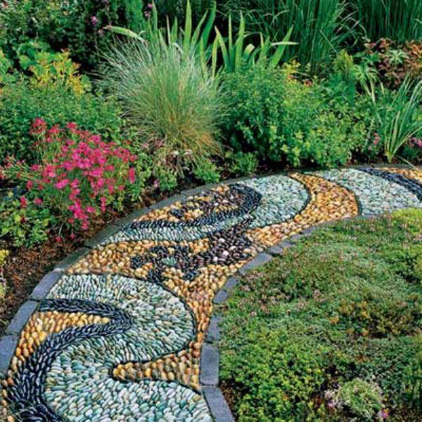 14 Breathtaking Garden Pathway Ideas Pebble Garden Garden