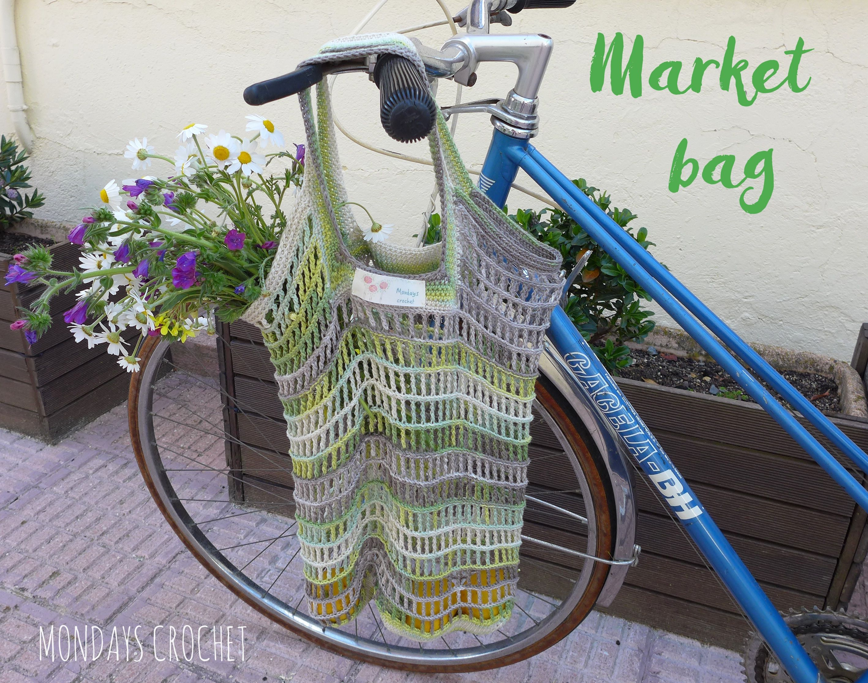 Bolsa de red de ganchillo. Patrón gratuito / Crochet market bag ...