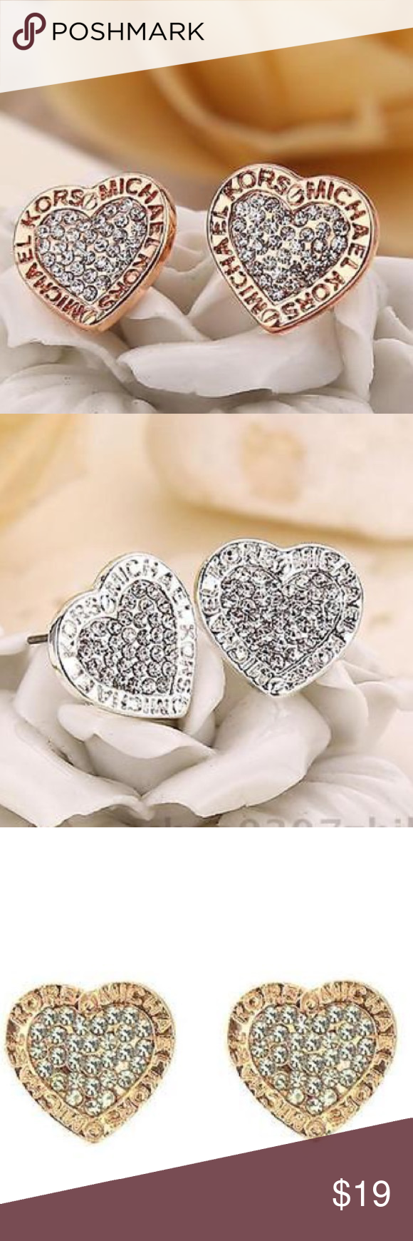 03b9ab387fdc4 Available in silver or gold or rose gold. Price for one pair only. Commect  down below after purchased for color Michael Kors Jewelry Earrings