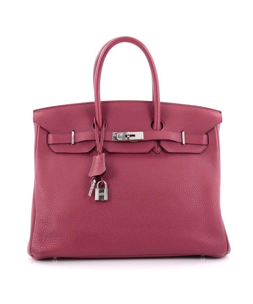 Birkin Handbag 35 Rubis Clemence Pre-Owned By Hermès  2f209364e