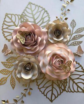 Nursery set Roses #paperflowers