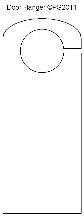 Door Hanger Template I Made