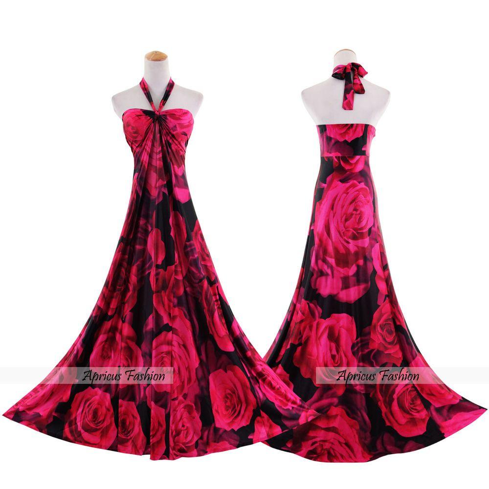 Long dresses for wedding party  Women Plus Size Bridesmaid Wedding Party Boho Sexy Evening Maxi Long