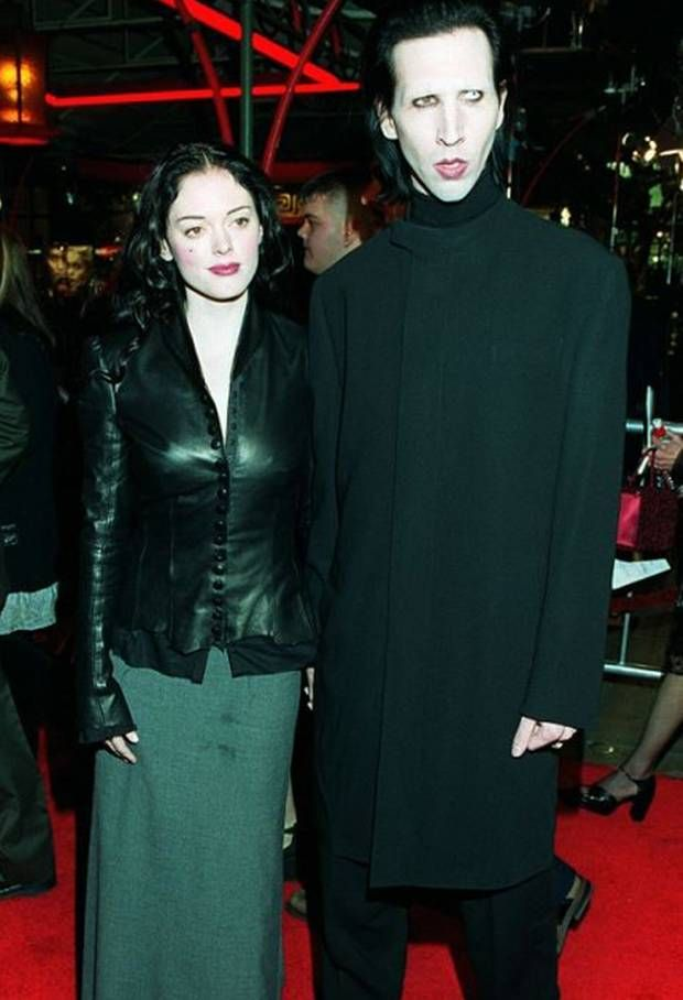 Rose Mcgowan And Marilyn Manson In The 90s Marilyn Manson Marilyn Manson