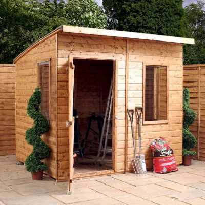 Millbrook Shiplap Curved Roof Aero Shed 8x6   One Garden