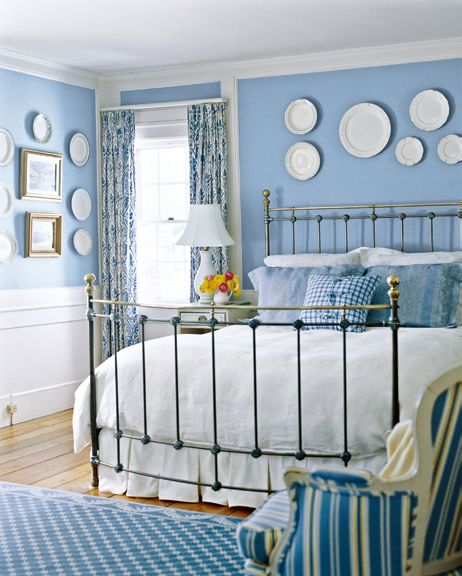 Blue And White Country Rooms | Country Style Decorating With Blue And White  | Home Interior