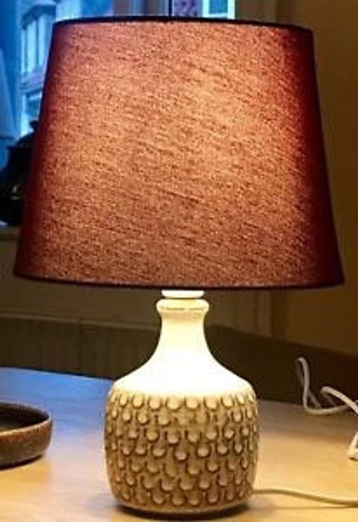 Soholm Keramik Vintage Lampe 1960 1970 Braun Kastanie Creme Etsy Ceramic Lamp Lamp Lamp Shade