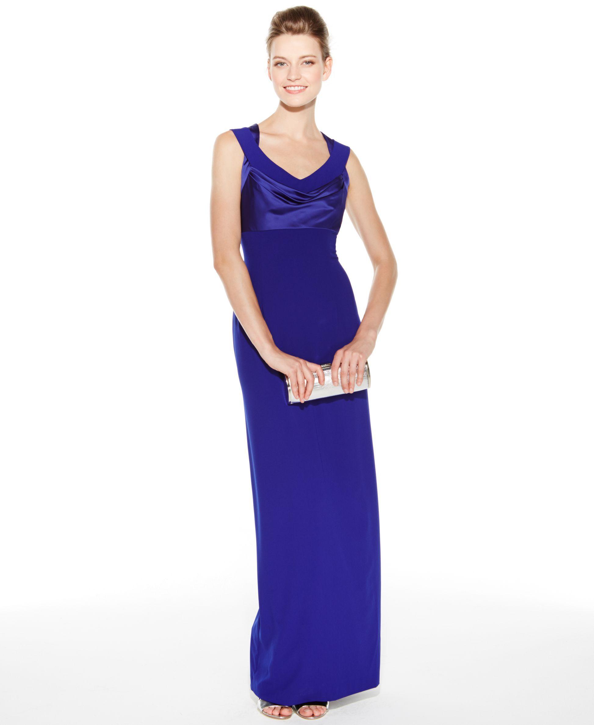 Calvin Klein Crisscross Column Gown | Products | Pinterest