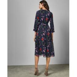 Wickelkleid Mit Hedgerow-print Ted Baker #hochzeitsgästekleidung
