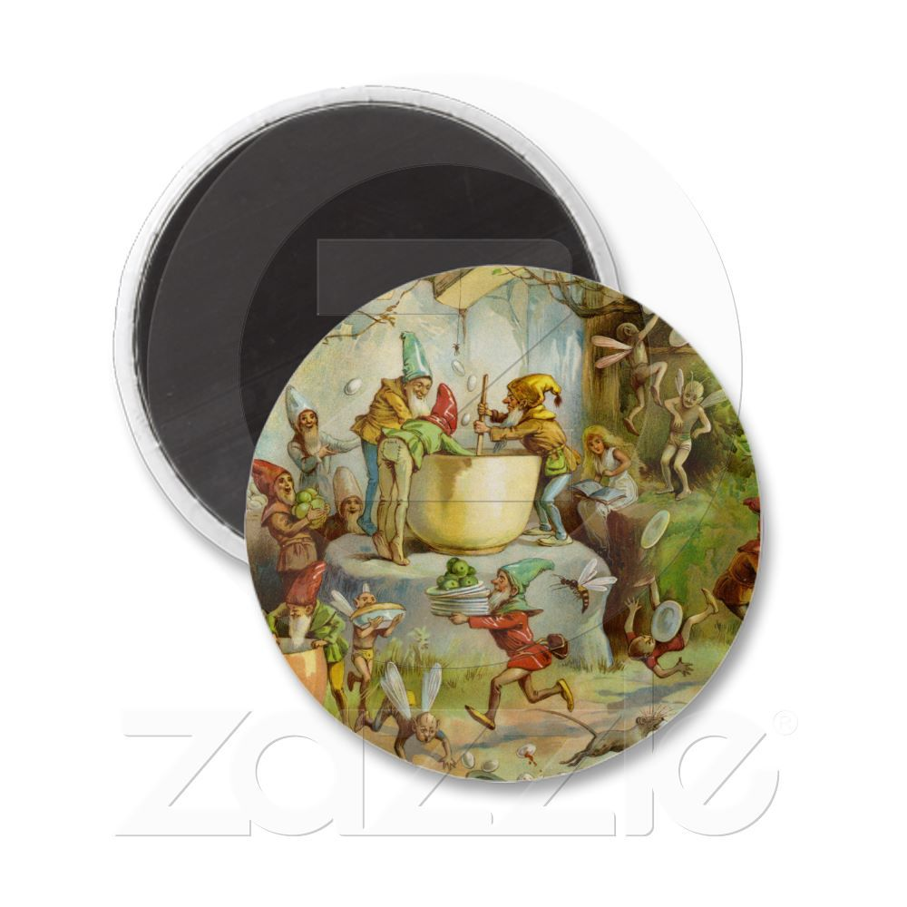 Cooking In The Gnome Kitchen Magnets from Zazzle.com