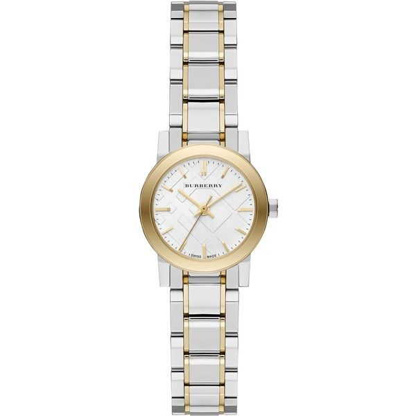 burberry gold and silver watch