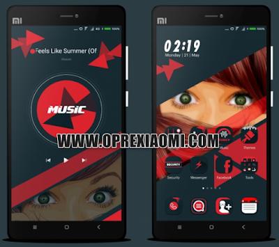 Dark Theme Ruby red TT Mtz Full Black Tembus Ke Aplikasi