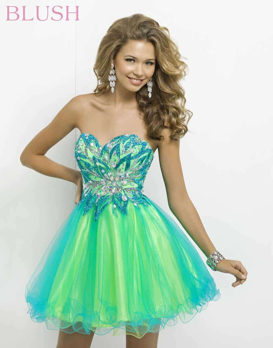 Yellow and Orange Prom 9721 Strapless Party Dress