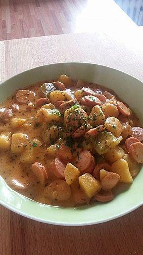 kartoffelgulasch mit wiener wurstchen foods german food recipes and chili con carne