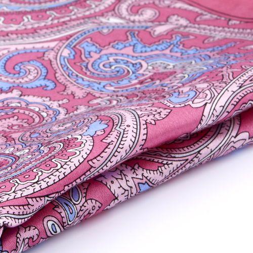 Photo of Baroque Pink Silk Pocket Square | In stock! | Tailor Toki