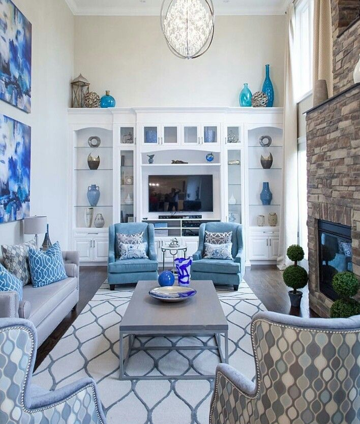 Elegant Royal Blue Living Room Ideas