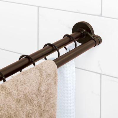 The Neverrust Aluminum Double Straight Shower Rod From Titan