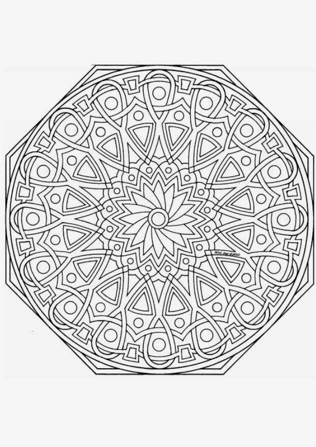 Mandalas Para Pintar: mandalas para imprimir | mandala eighths ...