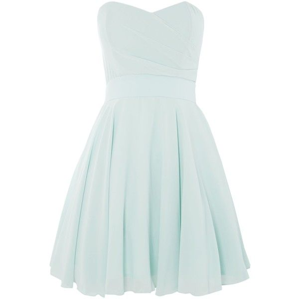 Tfnc Strapless Fit And Flare Dress Found On Polyvore