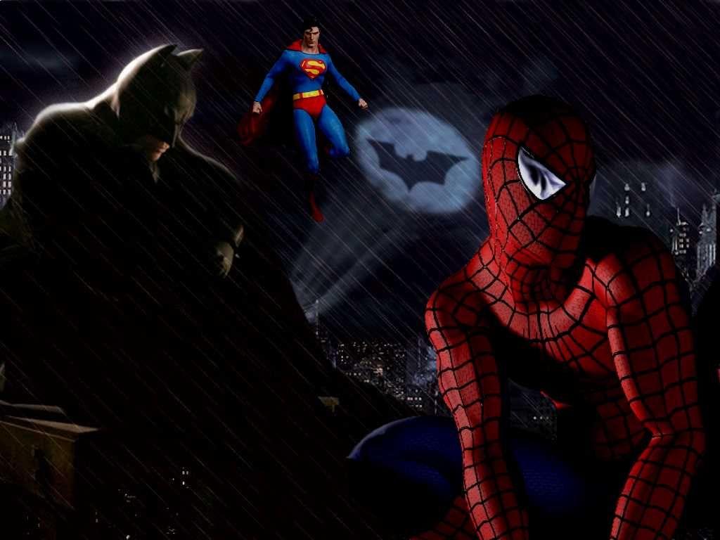 Uncategorized Batman Superman Spiderman batman spiderman superman artwork spider man and superman