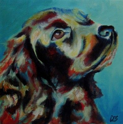 ea09ece98213 Custom Abstract Pet Portrait by Christine E. Striemer ~CES~  www.paintingsbyces.com