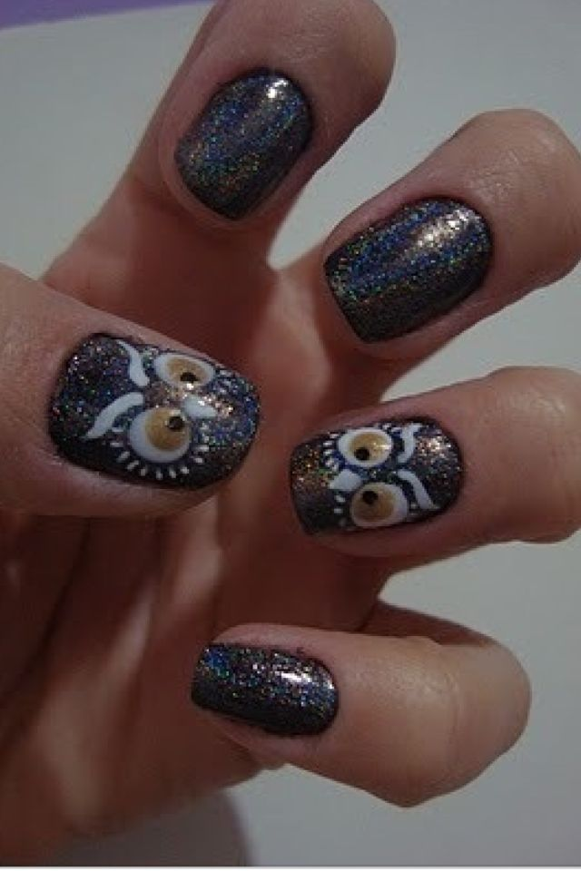 Owl nail art | Animal art | Pinterest | Owl nail art, Owl nails and ...
