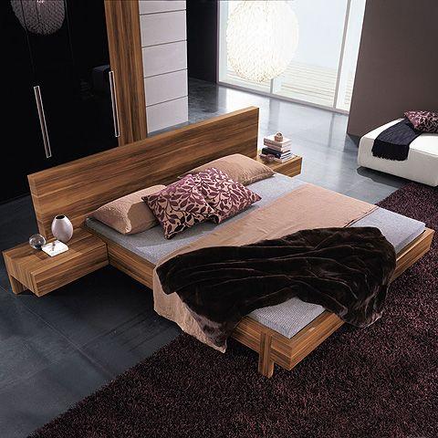 Gap Platform Bed And Nightstands Walnut Bedroom Set In