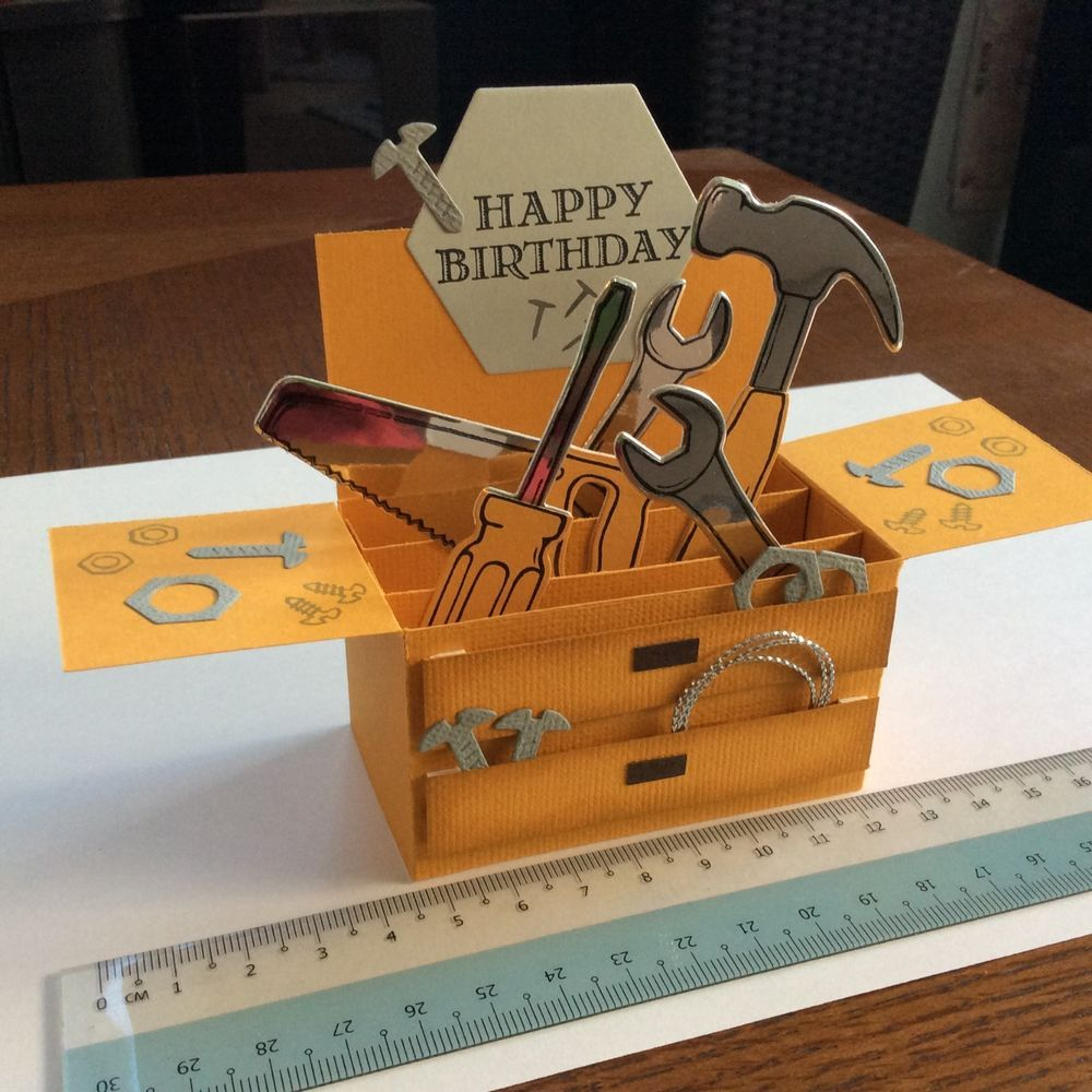 Handmade Birthday Toolbox Pop Up Box Card Toolbox Box And Birthdays