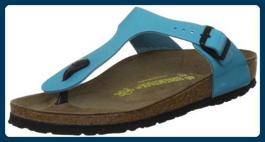 Birkenstock 845203 Damen Sandalen, Blau (Blue Lack), 41 EU