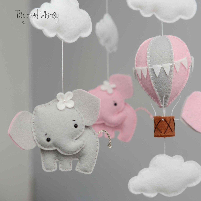 Elephant Mobile  Hot Air Balloon Mobile  Custom Mobile