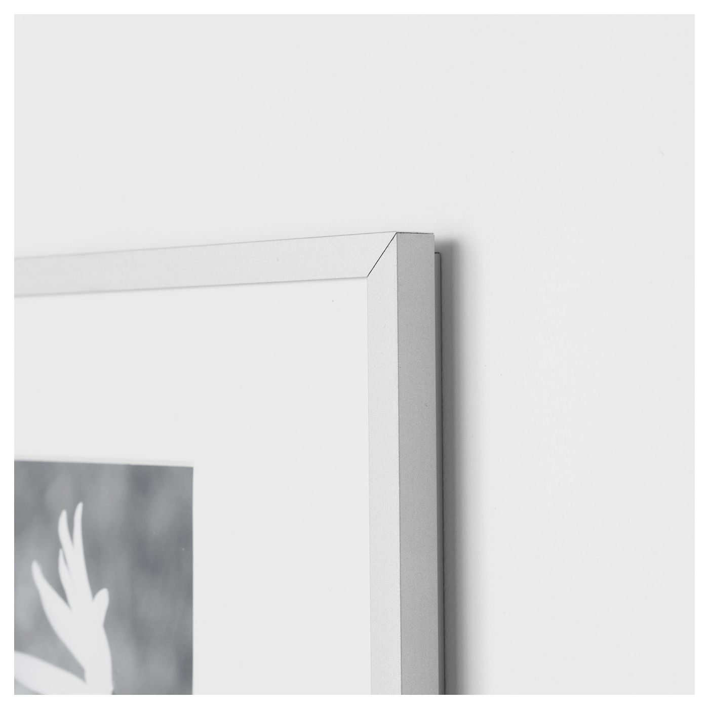 Lomviken Frame Aluminum 16 X20 41x51 Cm Ikea Photo Frames Frame Frames On Wall