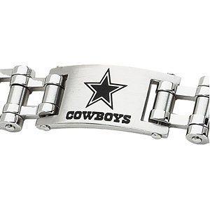 a9af22c2cc348 Dallas Cowboys Official NFL Logo Bicycle Link Bracelet, 8