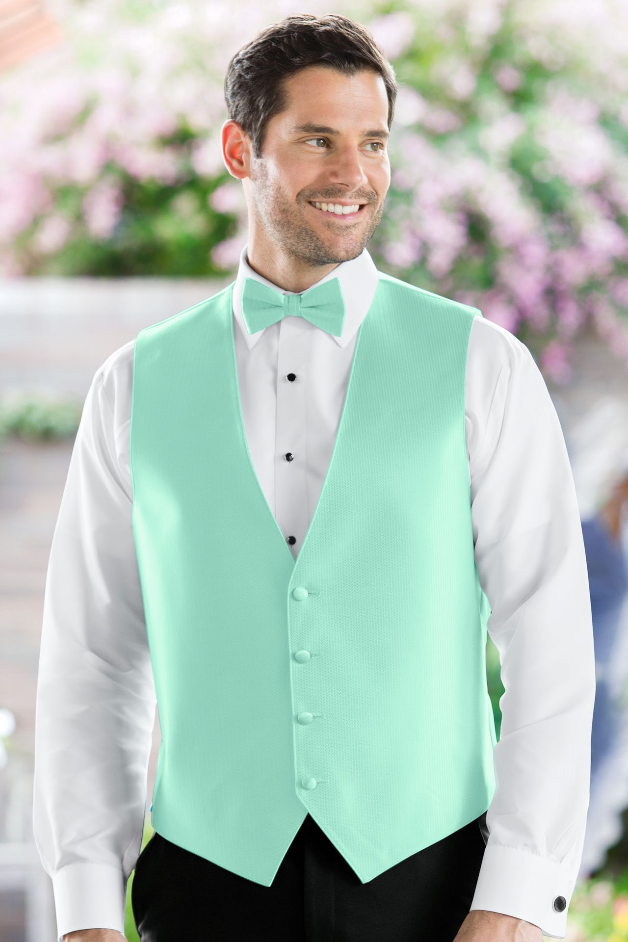 Customize your tuxedo with a vest in a range of hues to match any ...