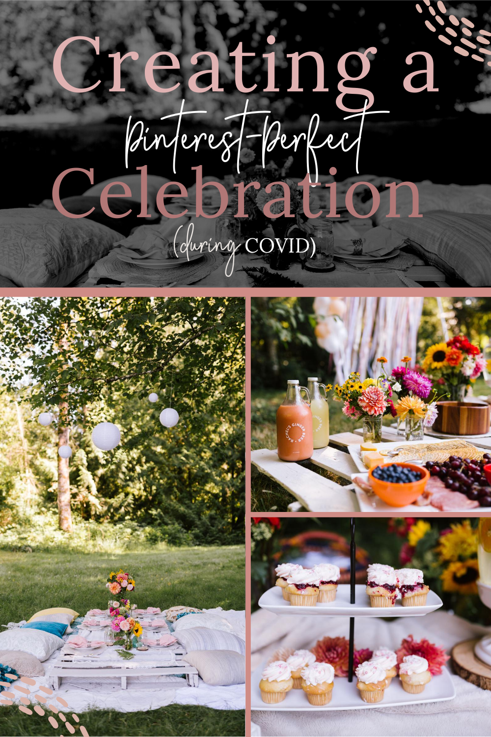 Are you looking for a way to safely and sweetly celebrate a loved one during the days of COVID?  You're sure to be inspired by this picturesque lakeside baby shower that our little girl gang dream team put together. Baby shower inspiration, beautiful baby shower, celebration ideas, outdoor baby shower, best baby showers, bridal shower ideas, beautiful bridal shower