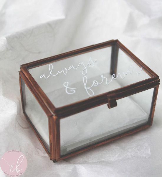 Ringkästchen Kupfer Glaskästchen