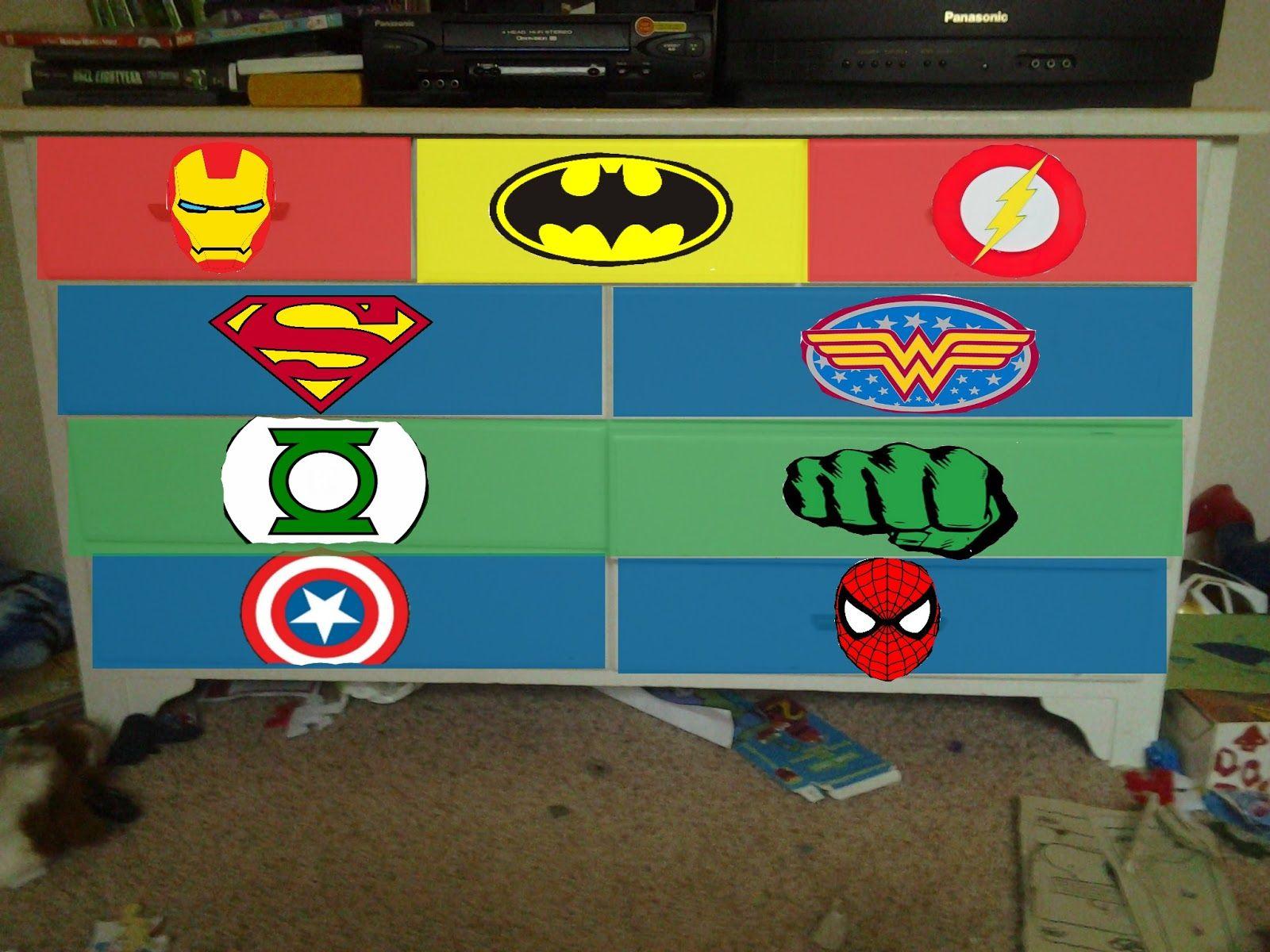 Vivaciously Vintage Superhero Dresser Commission