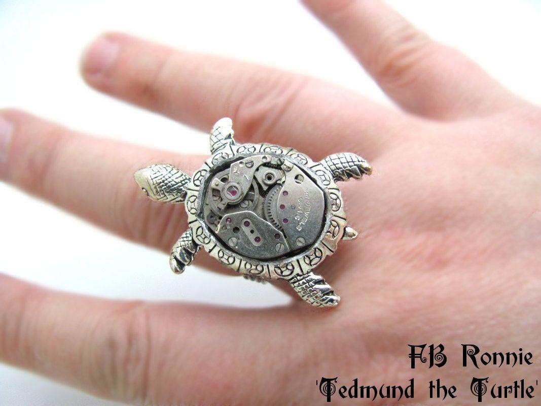 My newest steampunk creation: Tedmund the Turtle $20.00   random ...