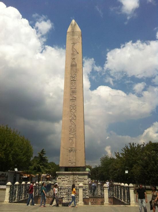 obelisk of iii tutmosis egyptian obelisk placed in the hippodrome istanbul