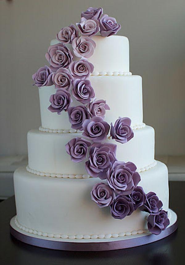 hochzeitstorte lila weiß - Google-Suche  Hochzeit  Pinterest