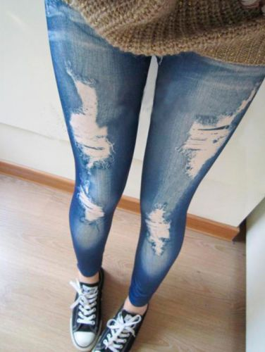 Women Sexy Skinny Leggings Slim Faux Denim Look Jeans Jeggings Stretchy Pants https://t.co/3m6K3SDnVP https://t.co/SUHy4Flvxa