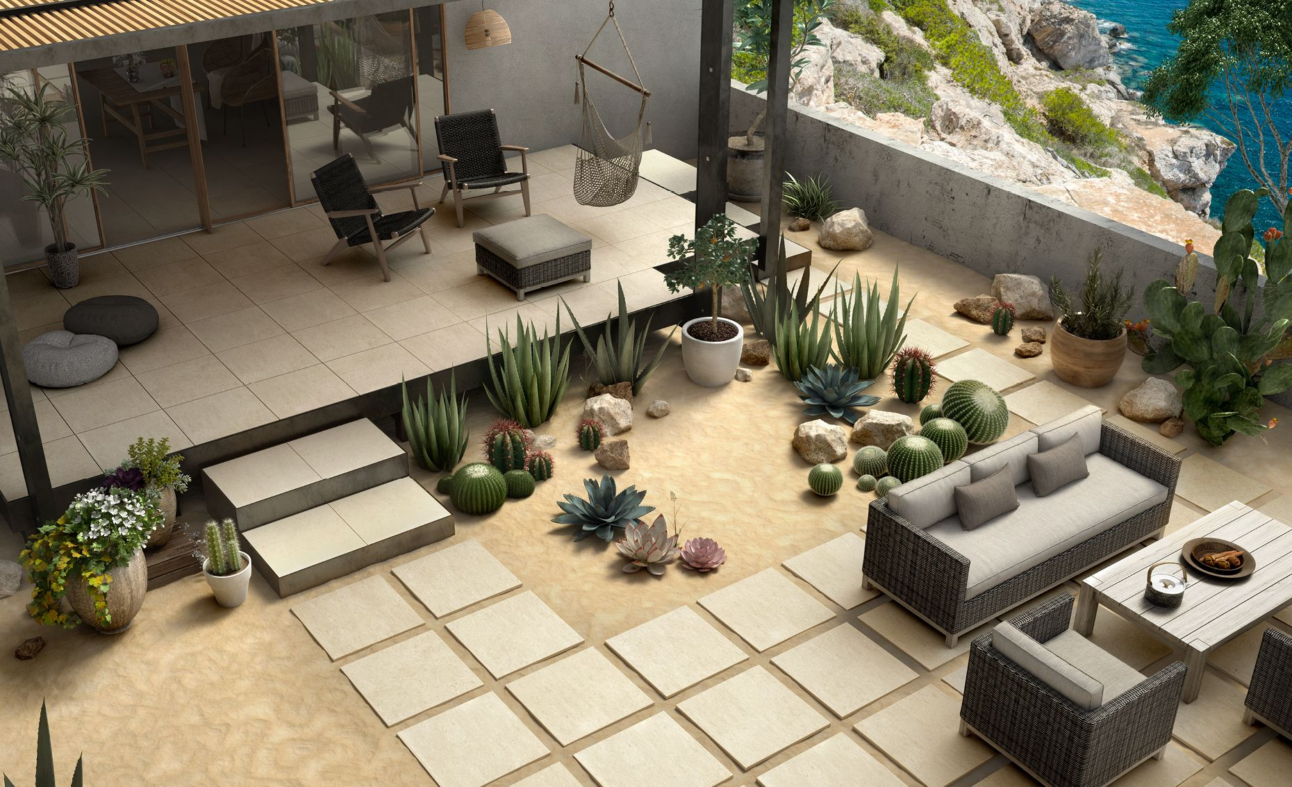 create a cozy outdoor space with unicom starkers tile available