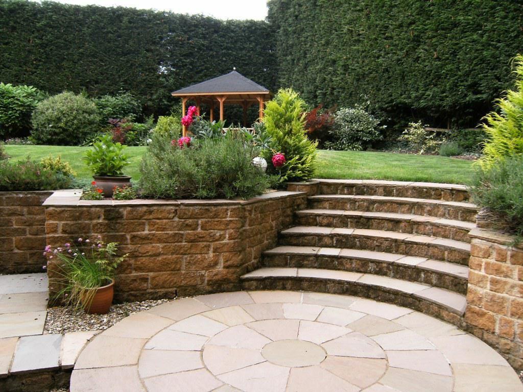 front yard retaining wall ideas landscape pinterest sloped